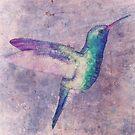abstract hummingbird by Ancello