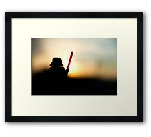 Vader at sunset Framed Print