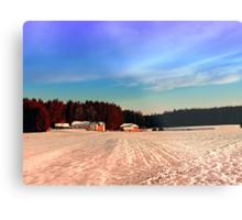 Amazing vivid winter wonderland | landscape photography Metal Print