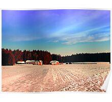 Amazing vivid winter wonderland | landscape photography Poster
