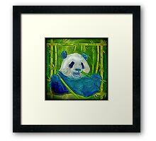 abstract panda Framed Print