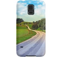 Apple trees along the country road | landscape photography Samsung Galaxy Case/Skin