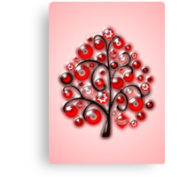 Red Glass Ornaments Canvas Print