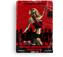Zombie Cheerleader From Hell Tee Shirt Canvas Print