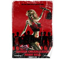 Zombie Cheerleader From Hell Tee Shirt Poster
