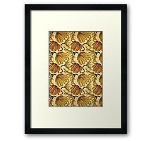 Retro 70's Golden Yellow Daisy Pattern  Framed Print