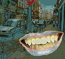 Glossy teeth in Paris by Angelina Elander