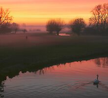 Swaning down a misty river in Constable country  by miradorpictures