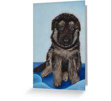 Puppy - German Shepherd Greeting Card