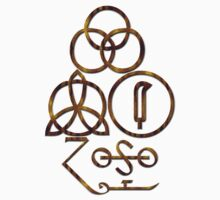 LED ZEPPELIN BAND SYMBOLS (ORANGE SNAKE) by Endlessgrief