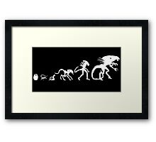 Alien Evolution Framed Print