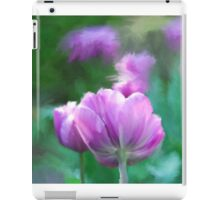 Painted Pink Tulips iPad Case/Skin