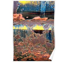 Sunrise Over the Lake Abstract Poster