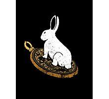 Follow the White Rabbit Photographic Print