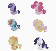 Sleepy Ponies - Mane 6 Set by JimHiro