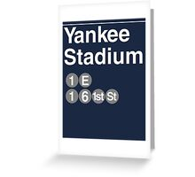 Yankee Stadium Subway Sign w Greeting Card