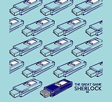 Sherlock Minimalist poster-style Shirts and art-The Great Game, S1E3 by ShubhangiK