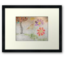 Sun Tree Mountain Flower Ancient Origins Framed Print