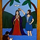 Jesus and John the Baptist by Shulie1