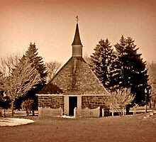 Church Of The Three Mile Run in Sepia Tones by Jane Neill-Hancock