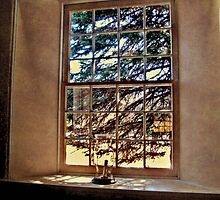 A Window Inside Church of the Three Mile Run by Jane Neill-Hancock