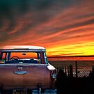 FIFTY FIVE CHEVY WITH CALIFORNIA SUNSET by Larry Butterworth