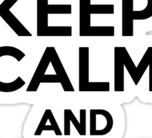 Keep calm and demand trial by combat Sticker