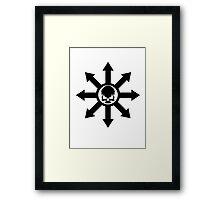 Mark of Chaos Black Framed Print