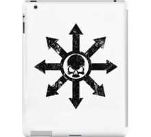 Mark of Chaos Distressed Black iPad Case/Skin