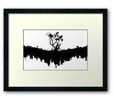 Urban Faun - Black on White Framed Print