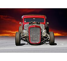 1934 Chevy Coupe - Head On Photographic Print