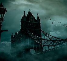 Tower Bridge 1894 Black out by outlawalien