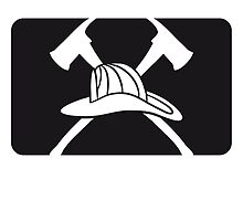 2 axes helmet Fire Department logo by Style-O-Mat