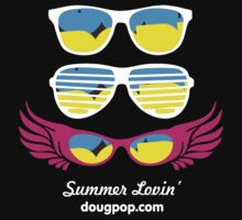 Summer Lovin' - Black Shirt by DougPop