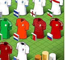 Isometric Uniforms Set of Soccer World Cup  by aurielaki
