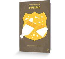 No315 My Superbad minimal movie poster Greeting Card