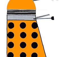 Dalek (Orange) by thedaintydalek
