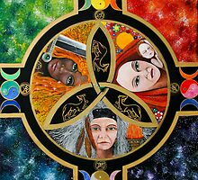Triple Goddess Mandala by Marg Thomson by fullcirclemandalas  is Marg Thomson