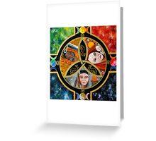 Triple Goddess Mandala by Marg Thomson Greeting Card