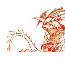 Hiccup's Mom's Dragon.  Photographic Print