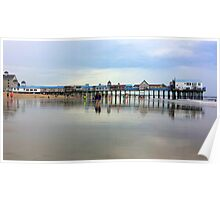 The Pier at Old Orchard Beach...full length & reflections  Poster
