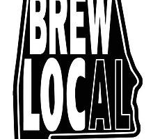 Brew Local Black print by BuyLocal