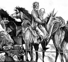 Respectable Hell Horse crossing shirt Sticker