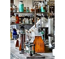 Chem Lab With Test Tubes and Retort Photographic Print