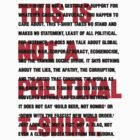 this is not a political t-shirt by titus toledo