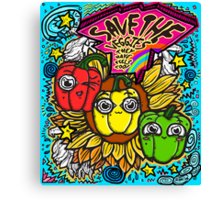 Save The Veggies Canvas Print