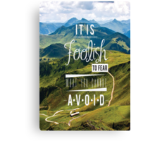Mountains Quote Canvas Print