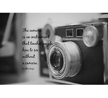Dorothea Lange Camera Photographic Print
