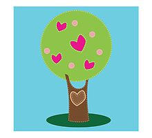Love heart vintage tree by jazzydevil
