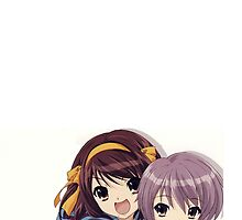 Haruhi and yuki by Sara52